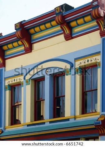 Fancy Victorian Facade - stock photo
