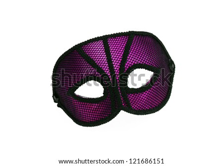 Fancy Vintage Festive Purple / Pink dress mask isolated on white background
