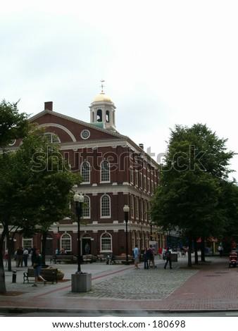 Faneuil Hall in Boston, Massachusetts - stock photo