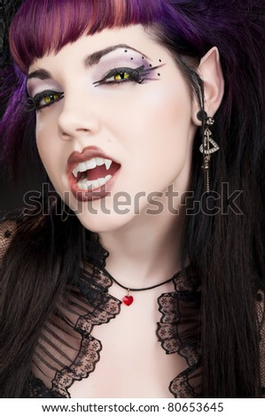Fangtastic Vampire - Ready to Bite - stock photo