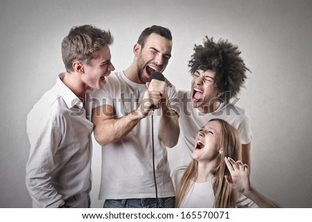 Fans - stock photo