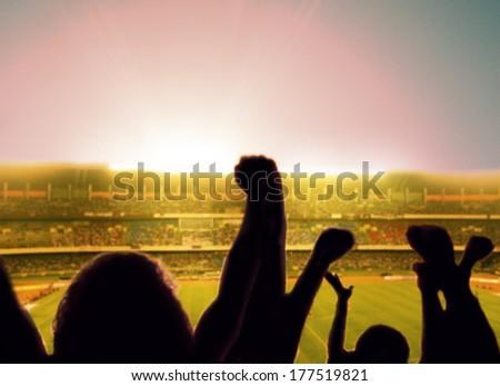 Fans. - stock photo