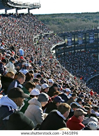 Fans Cheering at Gillette Stadium - stock photo