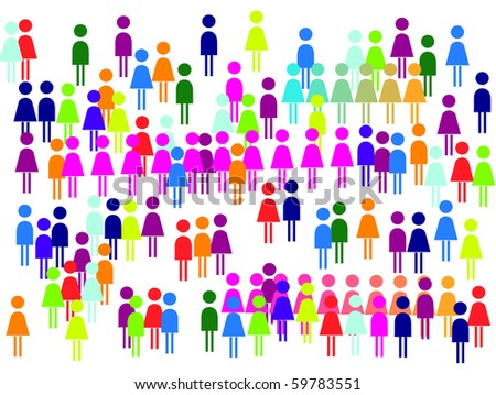 Fans, viewers, crowd or abstract picture. - stock photo