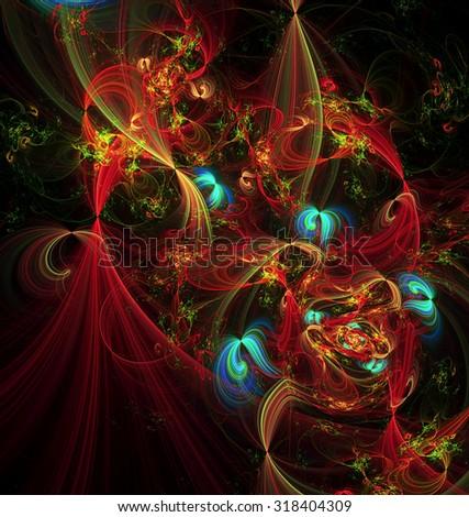 Fantasia abstract illustration - stock photo