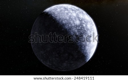 Fantasic moon - stock photo