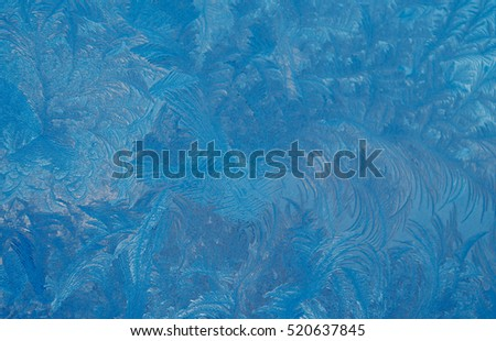Fantastic abstract winter background (frost pattern on a window glass), retro style