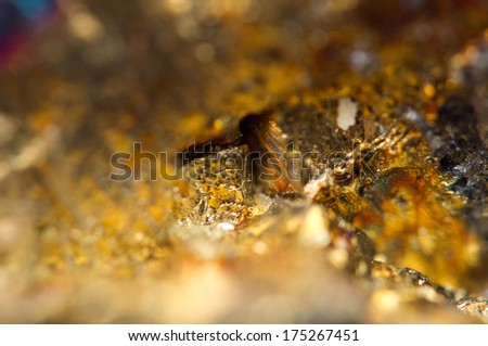 Fantastic background, magic of a stone, gold metal (big collection - stock photo