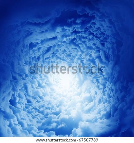 Fantastic beautiful clouds - stock photo