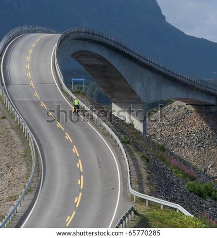 Fantastic Bridge in Norway - stock photo