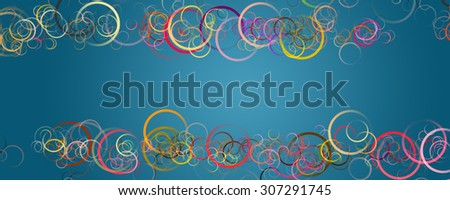 fantastic circle background design illustration with space for your text - stock photo
