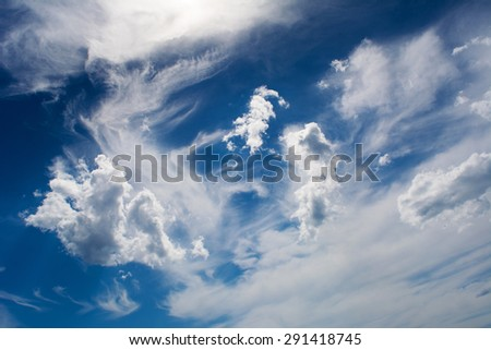 Fantastic clouds on the sky - stock photo