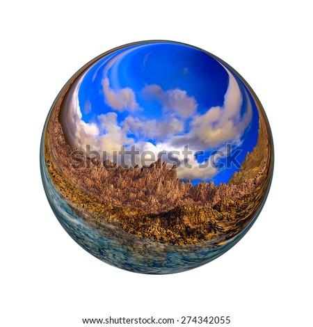 Fantastic colorful ball - stock photo