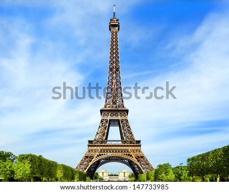 Fantastic Eiffel Tower in Paris