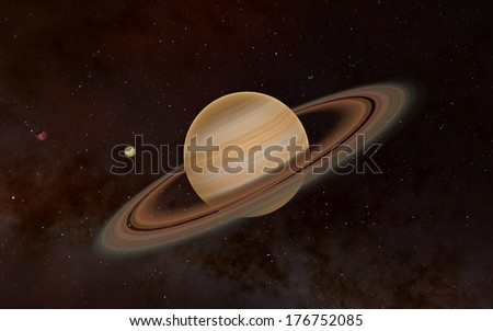Fantastic exoplanet 3d - stock photo