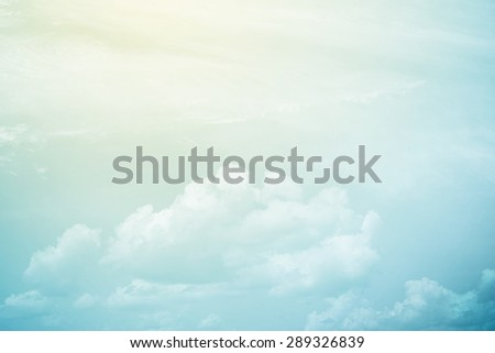 fantastic fluffy cloud and sky abstract background - stock photo
