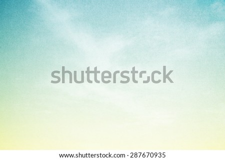 fantastic fluffy cloud and sky abstract background with grunge paper texture - stock photo