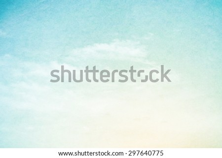 fantastic fluffy cloud and sky abstract background with grunge texture - stock photo