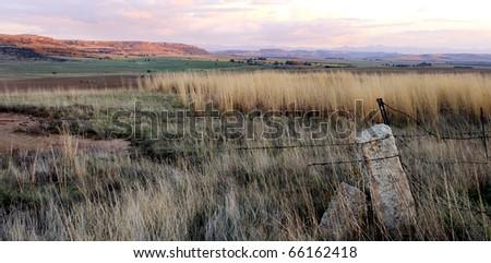 Fantastic landscape at sunset - stock photo