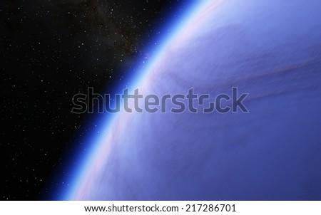 Fantastic planet - stock photo