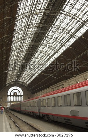 fantastic railway station in Hungary - Budapest - stock photo