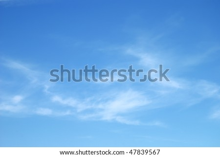 Fantastic soft white clouds against blue sky - stock photo