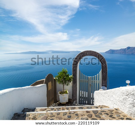 Fantastic view from Santorini island, Oia village