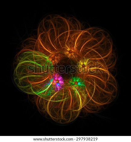 Fantastic Wreath abstract illustration - stock photo