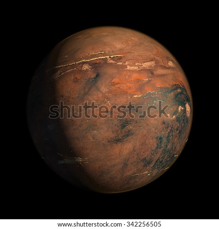 Fantasy Alien Exo Planet isolated galaxy space - stock photo