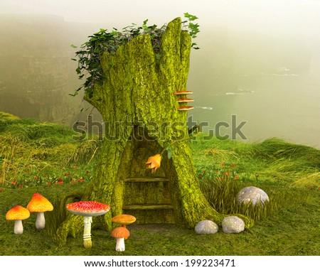 fantasy background - stock photo
