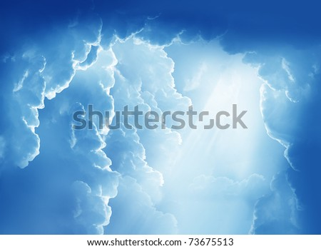 Fantasy beautiful clouds - stock photo