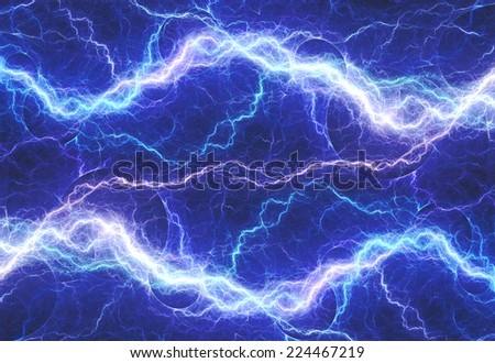Fantasy blue double lightning