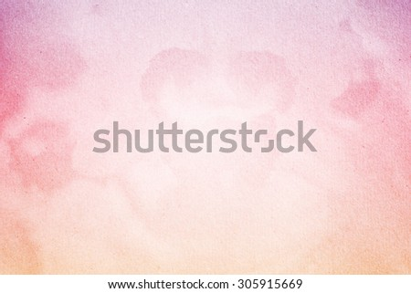 fantasy blurred orchid flower on grunge paper texture with gradient color - stock photo