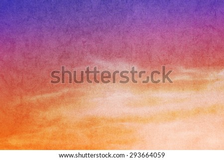 fantasy cloud and sky abstract background with grunge  texture - stock photo