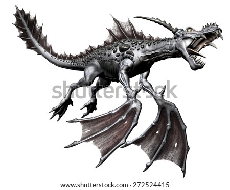 Fantasy Dragon - 3D Artwork - stock photo