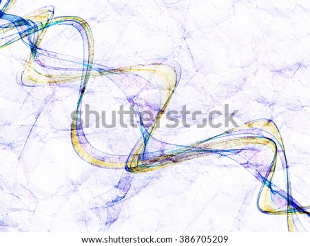 fantasy fire rainbow line weave gradient colored background grunge paper textured - stock photo