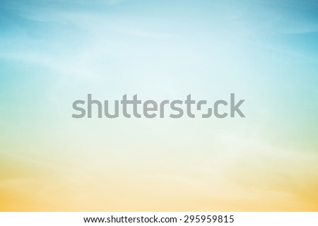 fantasy fluffy cloud and sky in gradient color abstract background with gradient color - stock photo