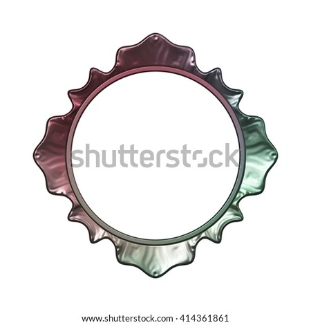 Fantasy frame isolated on white background