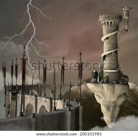 Fantasy kingdom - stock photo