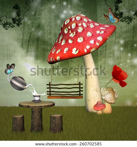 Fantasy playground - stock photo