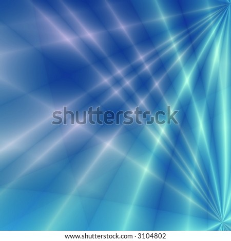 Fantasy rays on blue background