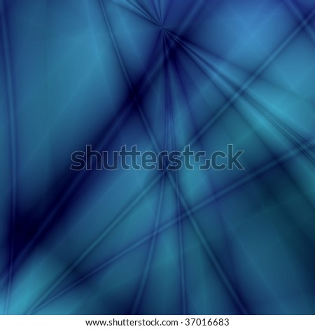 Fantasy rays on dark-blue background