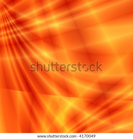 Fantasy rays on red background - stock photo