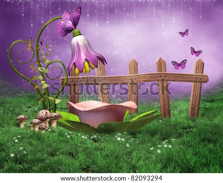 Fairy background stock images royalty free images vectors shutterstock - Pastelltone wand ...