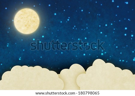 Fantasy sky background - stock photo