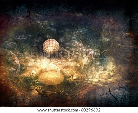 Fantasy space backgrounds - stock photo