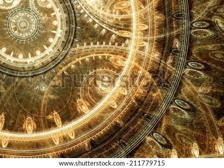 Fantasy steampunk design - stock photo
