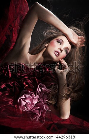 Fantasy style photo of a young beauty - stock photo