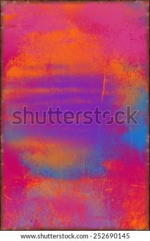 Fantasy Texture with Rusty Seams Along Edges (Part of Vibrant Metal Textures set, which includes 12 textures that fit together perfectly to form a huge image. No noise, even lighting) - stock photo