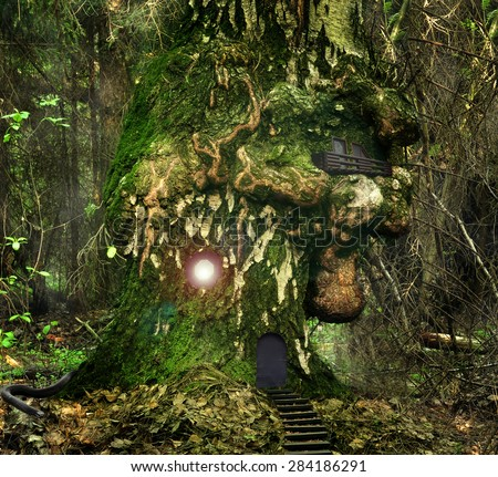 hobbit fantasy forest trees - photo #18